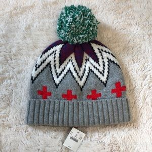 J.Crew pom-pom winter hat